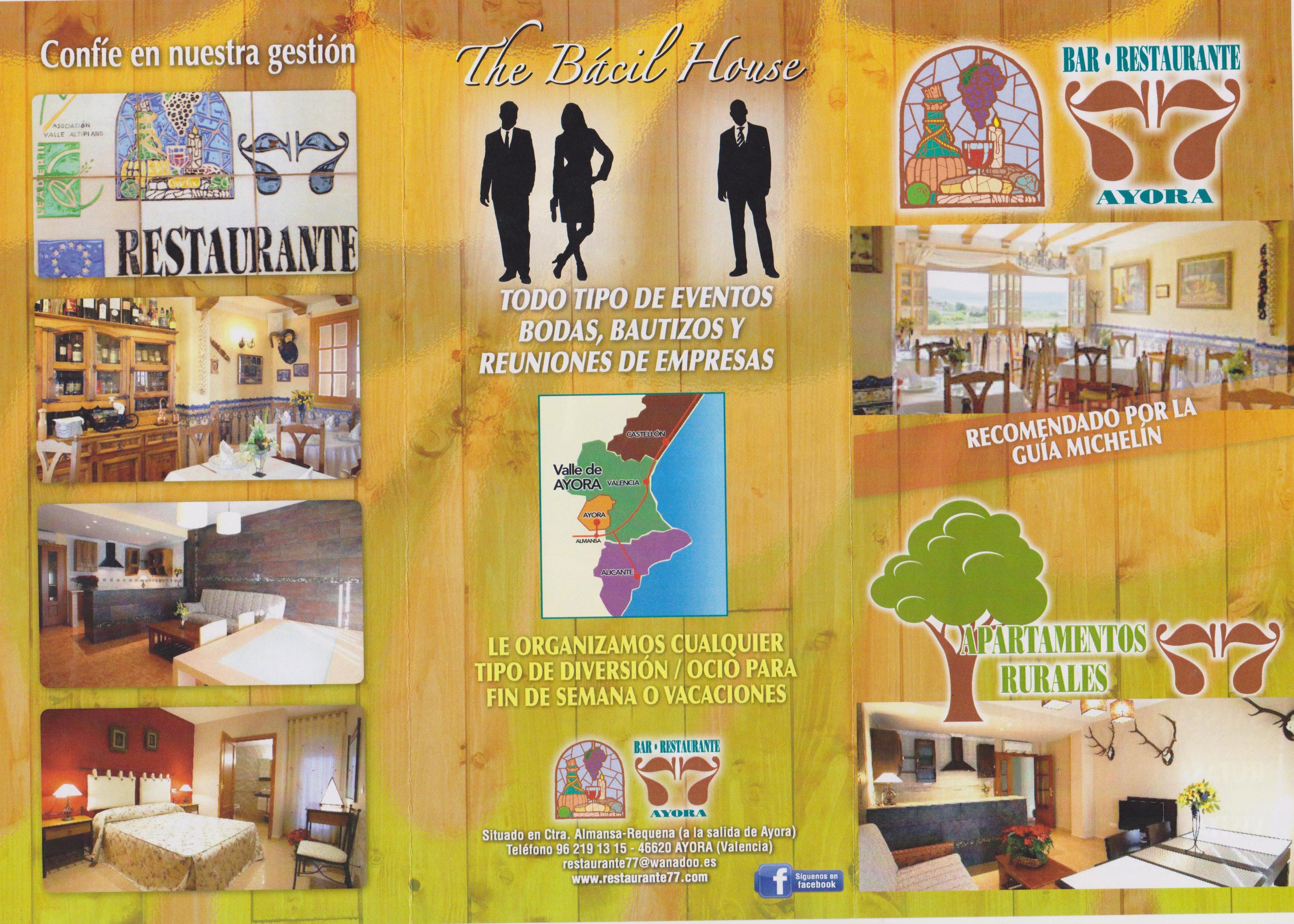 Elige tu fecha y celebra tu evento Restaurante 77 Ayora